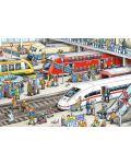 Пъзел Schmidt от 60 части - На жп гарата, с аксесоар за багаж - 2t