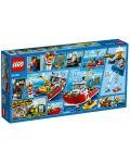 Конструктор Lego City - Пожарникарска лодка (60109) - 3t