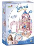 3D Пъзел Cubic Fun от 92 части - Тайната градина на принцесата, с 493 камъчета - 5t