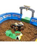 Игрален комплект с кинетичен пясък Spin Master Monster Jam - Арена с ексклузивно бъги, Deluxe - 3t