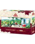 Панорамен пъзел Art Puzzle от 1000 части - Гост във Веранда - 1t
