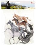Комплект фигурки Тoi Toys Animal World - Deluxe, Диви коне, 5 броя - 2t