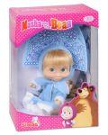 Кукла Simba Toys Маша със синя рокля и диадема, като на Снежанка - 1t