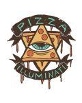 Тениска RockaCoca Pizza Iluminati, бяла, размер XL - 2t
