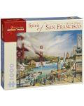 Пъзел Pomegranate от 1000 части - Живота в Сан Франциско, Лари Уилсън - 1t