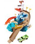 Комплект за игра Hot Wheels - Писта акула и колички с промяна на цвета - 5t