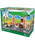 Игрален комплект от дърво Brio World - Автобусна и влакова станция - 4t