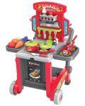 Детска кухня Buba Kitchen little Chef - Червена, 3 в 1 - 1t