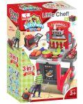 Детска кухня Buba Kitchen little Chef - Червена, 3 в 1 - 3t