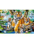Пъзел Castorland от 1000 части - Тигри до водопада - 2t