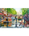 Пъзел Castorland от 1000 части - Пейзаж в Амстердам - 2t