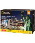 3D Пъзел Cubic Fun от 66 части - Empire State Building, New York - 2t