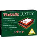 Луксозна дървена кутия с прозрачен капак Piatnik - 1t