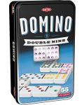 Класическа игра Tactic - Домино 9, в метална кутия - 1t