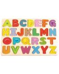 Дървен пъзел Lelin - Английската азбука, главни букви - 1t