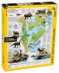 Пъзел New York Puzzle от 500 части - Динозаври, Северна Америка - 2t