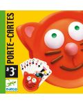 Ръкохватка за карти за игра Djeco - Котка - 3t