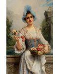 Пъзел D-Toys от 500 части - Продавачката на цветя, Леон Франсоа Комер - 2t