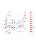 Геймърски стол DXRacer King - черен/бял (OH/KF57/NW) - 2t