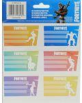 Ученически етикети Fortnite Dances - 18 броя - 1t