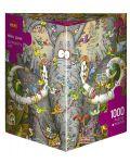 Пъзел Heye от 1000 части - Животът на слона, Марино Дегано - 1t