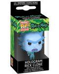 Ключодържател Funko Pocket Pop! Rick & Morty - Hologram Rick Clone - 2t