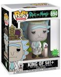 Фигура Funko Pop! Animation: Rick & Morty - King of $#!+ with Sound, #694 - 2t