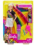 Игрален комплект Mattel Barbie - Прическа Дъга - 1t