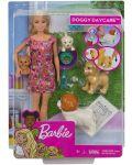 Игрален комплект Mattel Barbie - Барби с 4 кученца - 1t
