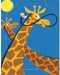 Мини пъзел New York Puzzle от 20 части - Жирафи - 1t