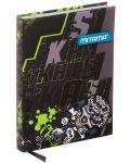Тефтер Mitama А5 - Skate, с текстилни корици - 1t