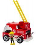 Пожарна кола Hape от дърво - 2t
