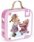 Комплект от 4 пъзела Janod - Лилу играе с кукли - 1t