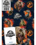 Хартия и етикети за подарък Danilo - Jurassic World - 1t