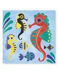 Творчески комплект Janod - Подводен свят, карти с акварели - 3t