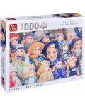 Пъзел King от 1000 части - Порцеланови кукли - 1t