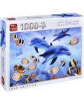 Пъзел King от 1000 части - Четири делфина, Стив Съндрам - 1t