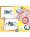 Книжка за рисуване със стикери и шаблони Folia - Мотори - 3t