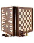 Комплект шах и табла Manopoulos - Цвят орех, 41 x 41 cm - 1t