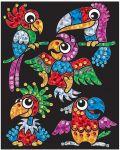 Творчески комплект KSG Crafts Sequin Art - Изкуство с пайети и фолио, Птици-бебета - 1t