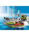 Конструктор Lego City Great Vehicles - Транспортьор на състезателни лодки (60254) - 7t