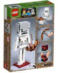 Конструктор Lego Minecraft - Голяма фигурка скелет с куб от магма (21150) - 6t