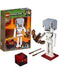 Конструктор Lego Minecraft - Голяма фигурка скелет с куб от магма (21150) - 4t