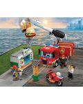Конструктор Lego City - Спасителна акция от пожар в бургер бар (60214) - 3t