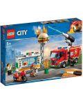 Конструктор Lego City - Спасителна акция от пожар в бургер бар (60214) - 7t