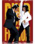 Метален постер Displate - Pulp Fiction Dancing - 1t