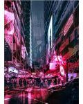 Метален постер Displate - Cyberpunk City - 1t
