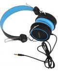 Слушалки Microlab K300 - черни/сини - 2t