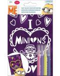 Творчески комплект Revontuli Toys Oy - Оцвети сам, Миньони, с кадифен контур - 1t