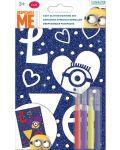 Творчески комплект Revontuli Toys Oy - Оцвети сам блестяща картина, Миньоните - 1t